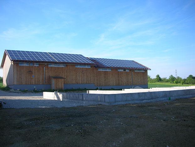 Projekt Schuppenanlage in Rommelsbach